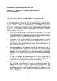 Antrag LISA an den Parteitag zur Politisierung der Quote, 2008
