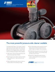 The most powerful pressure-side cleaner available - Pool Center