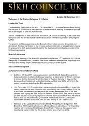 Bulletin 12 December 2011 Waheguru Ji Ka ... - Sikh Council UK