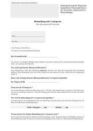 Behandlung mit Cyclosporin - Rheumazentrum Heidelberg