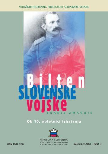 Letnik 10/4, november 2008 - Slovenska vojska