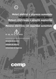 Motori elettrici a sicurezza aumentata Increased safety electric ...