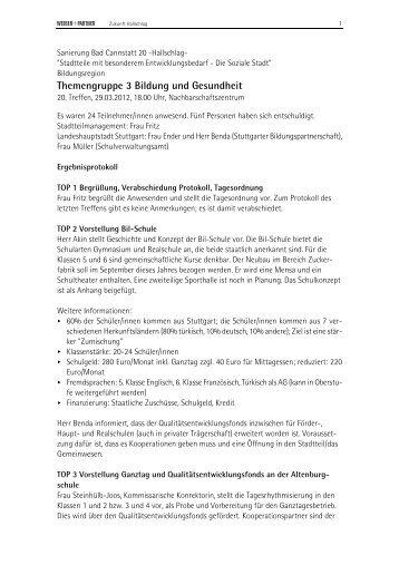 Protokoll des 20. Treffens am 29. März 2012 (PDF) - Zukunft ...
