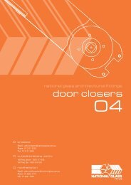04: Door closers - National Glass