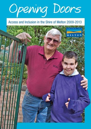 Access and Inclusion in the Shire of Melton 2009-2013 - Melton City ...