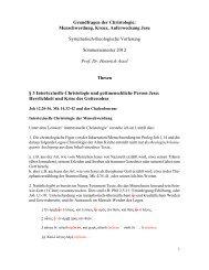 Grundfragen der Christologie: Menschwerdung, Kreuz ...