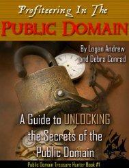 Public Domain Treasure Hunter Book #1 - Instant Bonus Page
