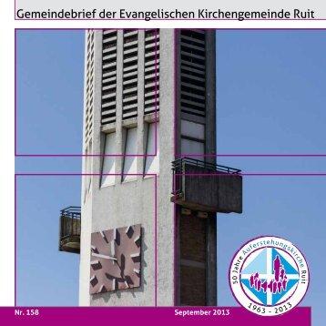 September 2013 - Nr. 158 - Evangelische Kirchengemeinde Ruit