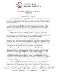 National Organic Standards Board (NOSB) Meeting April 10, 2013 ...