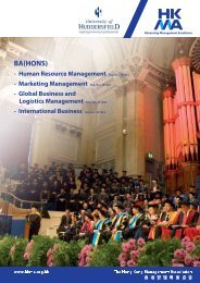 BA(Hons) - Hong Kong Management Association