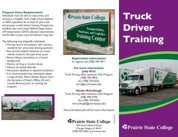 Truck Driver Training Brochure - Prairie State College