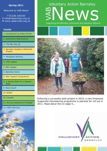 VAB Spring Newsletter 2011.cdr - Voluntary Action Barnsley