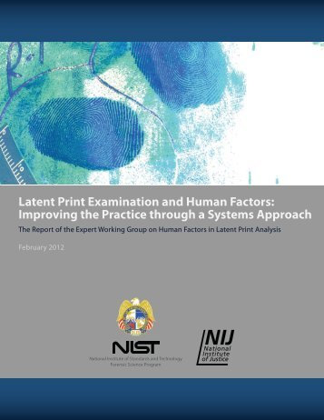 Latent Print Examination and Human Factors ... - Latent Prints