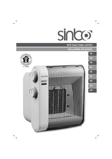 sfh 3362 fanlı ısıtıcı kullanma kılavuzu - Sinbo