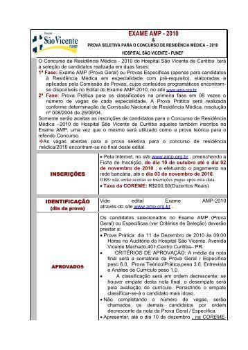 No que concerne ao Concurso de Residência Médica 2004 – (nome ...