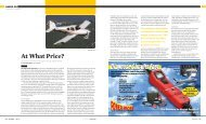 August issue of Sport Aviation by Van's founder Dick ... - Left Seat