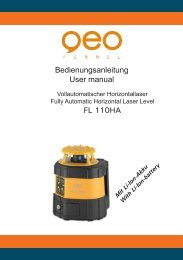 Bedienungsanleitung User manual FL 110HA - geo-FENNEL GmbH