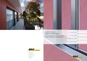 Gawo winlux hebe-SchiebetÜre - Reist + Glaus Holzbau AG