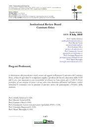 Comitato Etico O.d.G - TOMA Advanced Biomedical