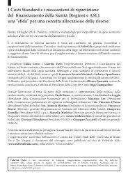 Percorsi, criticità e metodologie per riequilibrare la ... - FederLab Italia