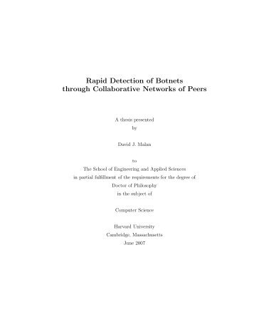 Rapid Detection of Botnets through Collaborative Networks of Peers