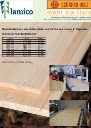 Massivholzplatten aus Fichte, Kiefer und Lärche ... - schaerer-holz.ch