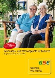 Betreuungs- und wohnangebote für Senioren - GSE