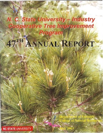 Annual Report 47, published in 2003 - Tree Improvement Program