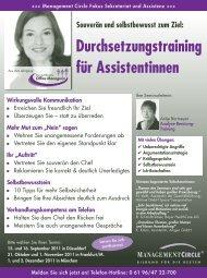 Durchsetzungstraining für Assistentinnen - Management Circle AG