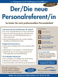 Seminar: Der/Die neue Personalreferent/in - Management Circle AG