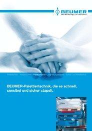 BEUMER-Palettiertechnik, die es schnell, sensibel und sicher stapelt.