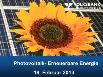 Photovoltaik - Volksbank Niederösterreich Süd