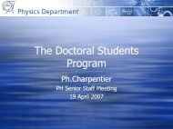 The Doctoral Students Program - Physics Department - CERN