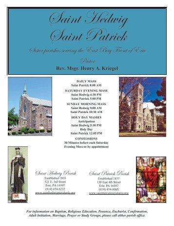 April 14, 2013 THIRD SUNDAY OF EASTER - Saint Hedwig Church ...