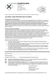 Los piojos - Hoja informativa para los padres - Schule Schöftland