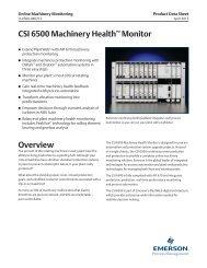 CSI 6500 Data Sheet - Emerson Process Management