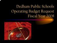 Powerpoint in PDF Format - Dedham Public Schools