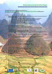 Second Announcement & Call for Papers - Global Geoparks Network