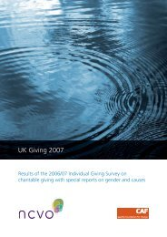 2007 UK Giving Report.indd - Charities Aid Foundation