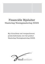 Financiële Bijsluiter - Staalbankiers
