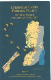 European Union Foreign Policy in the Occupied Palestinian Territory