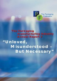 Download PF Annual Report 2002 (PDF) - The Packaging Federation