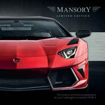 The limited customization programme for your ... - Mansory