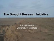 Introduction to DRI (Ron Stewart) - Drought Research Initiative