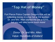 Top Hat of Money - John Carroll Catholic High School