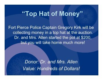 Top Hat of Money - John Carroll Catholic High School