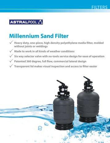 AP-211 Millennium Sand Filter.pdf - Astral Pool USA