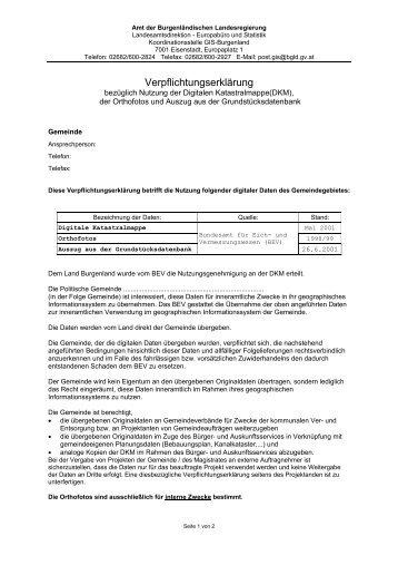 Gemeinden - Geodaten Burgenland