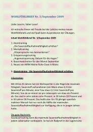 Inhalt Wohlfühlbrief Nr. 3/September 2009 - MRM *Meine Ruhe ...