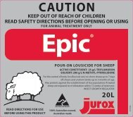 Epic Pour-On Lousicide for Sheep - Pest Genie